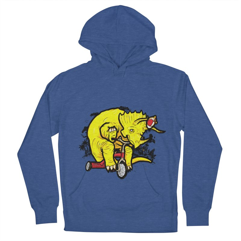 Triceratops ona Tricycle  Men's Pullover Hoody by Jonah Makes Art