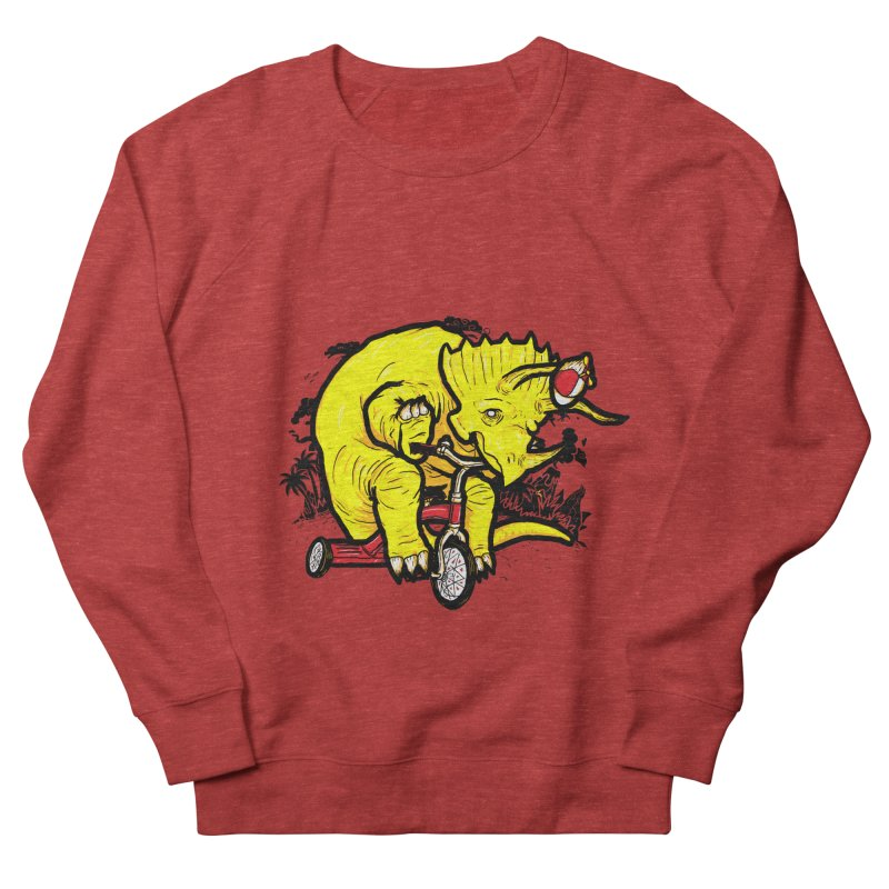 Triceratops ona Tricycle  Men's Sweatshirt by Jonah Makes Art