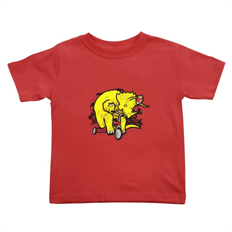 Triceratops ona Tricycle  Kids Toddler T-Shirt by Jonah Makes Art