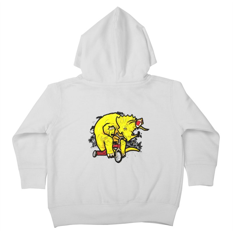 Triceratops ona Tricycle  Kids Toddler Zip-Up Hoody by Jonah Makes Art
