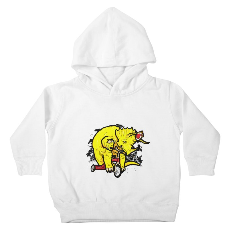 Triceratops ona Tricycle  Kids Toddler Pullover Hoody by Jonah Makes Art