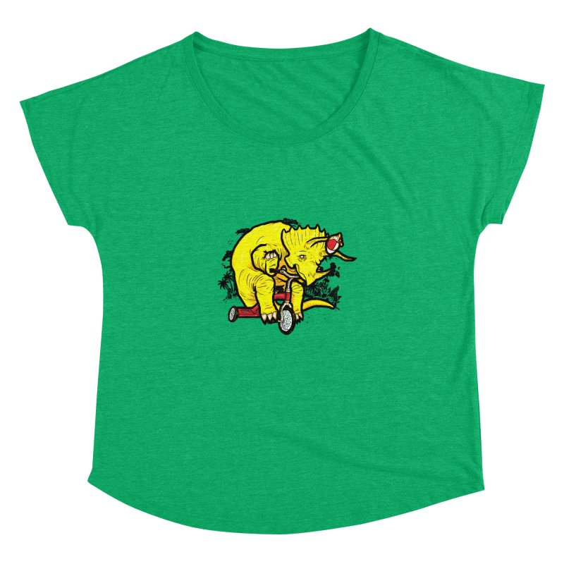 Triceratops ona Tricycle  Women's Dolman by Jonah Makes Art