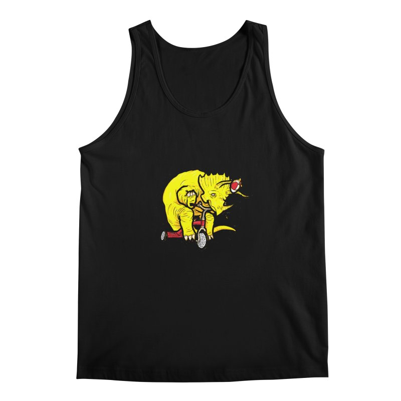 Triceratops ona Tricycle  Men's Tank by Jonah Makes Art
