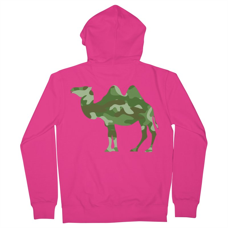 Camelflauge Men's Zip-Up Hoody by Jonah Makes Art