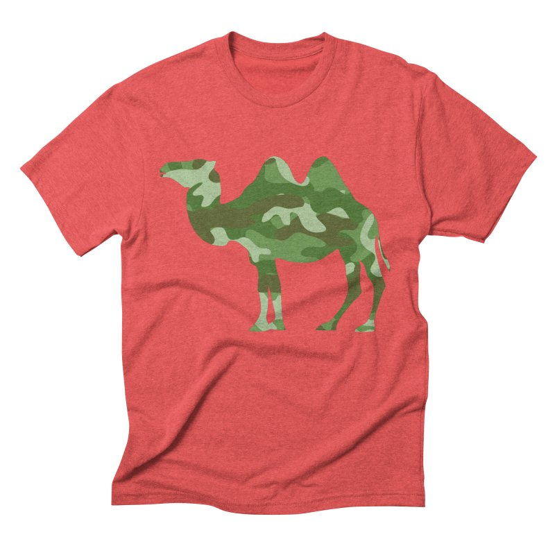Camelflage Men's Triblend T-Shirt by Jonah Makes Art