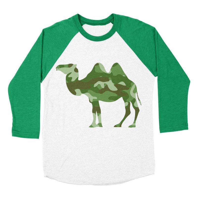 Camelflauge Women's Baseball Triblend T-Shirt by Jonah Makes Art