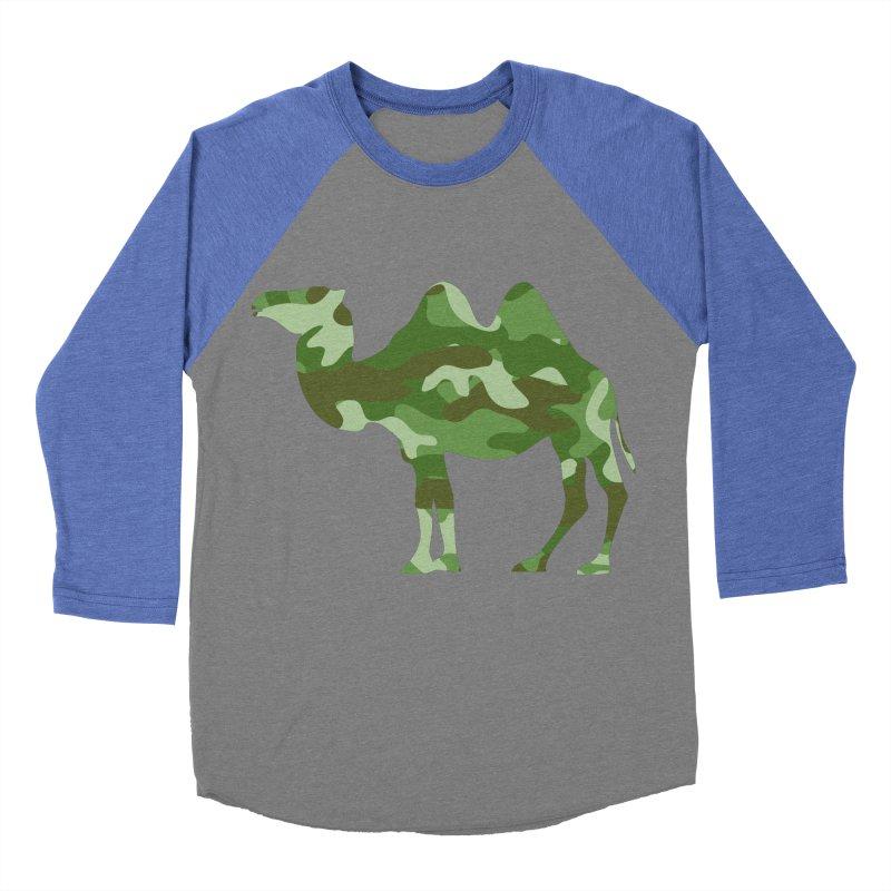 Camelflauge Men's Baseball Triblend T-Shirt by Jonah Makes Art