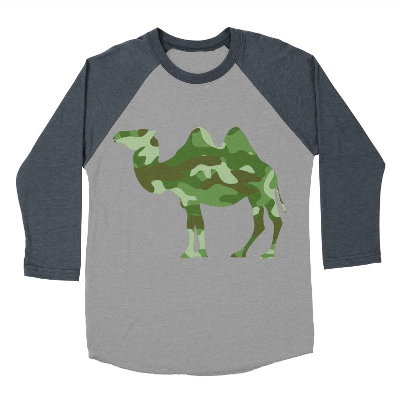 Camelflage Men's Baseball Triblend T-Shirt by Jonah Makes Art