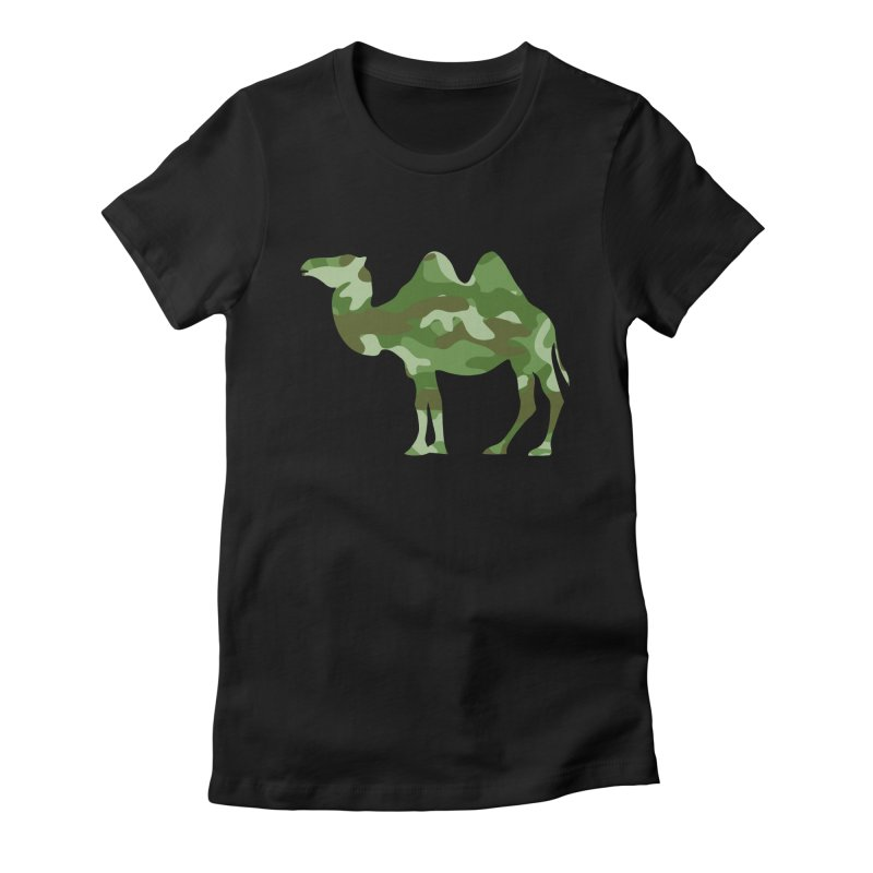 Camelflauge Women's Fitted T-Shirt by Jonah Makes Art