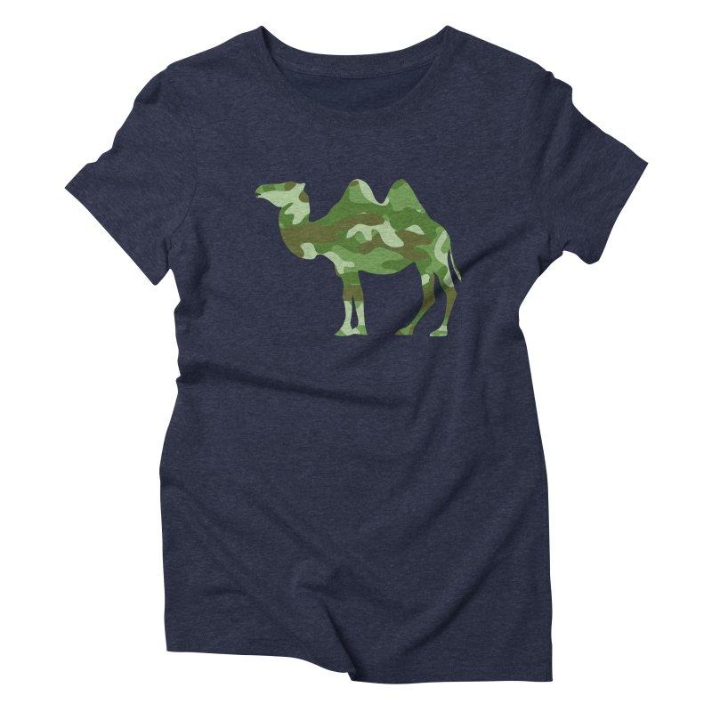 Camelflauge Women's Triblend T-Shirt by Jonah Makes Art