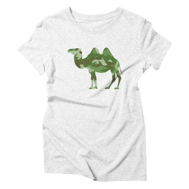 Camelflauge Women's Triblend T-shirt by Jonah Makes Art