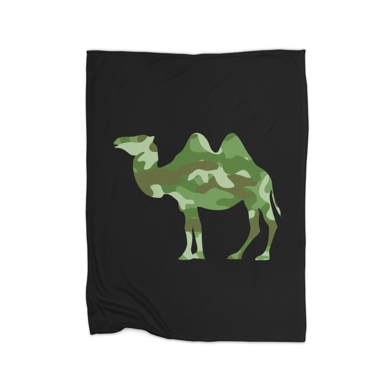 Camelflauge Home Blanket by Jonah Makes Art