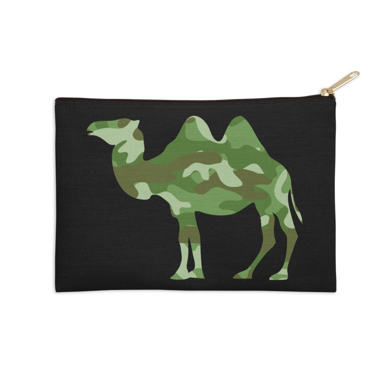 Camelflauge Accessories Zip Pouch by Jonah Makes Art