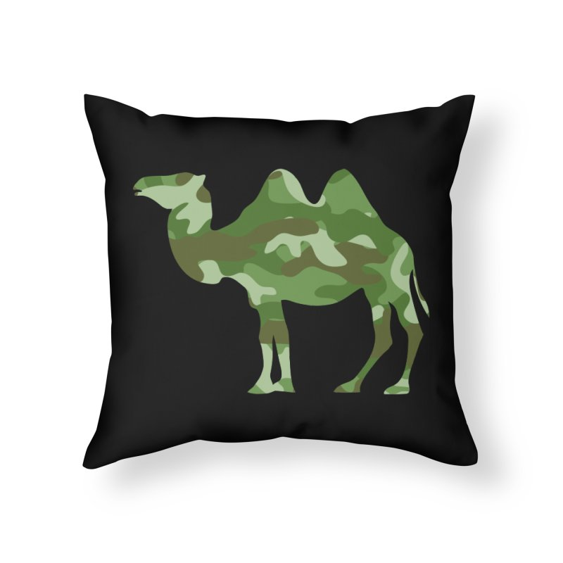 Camelflage Home Throw Pillow by Jonah Makes Art