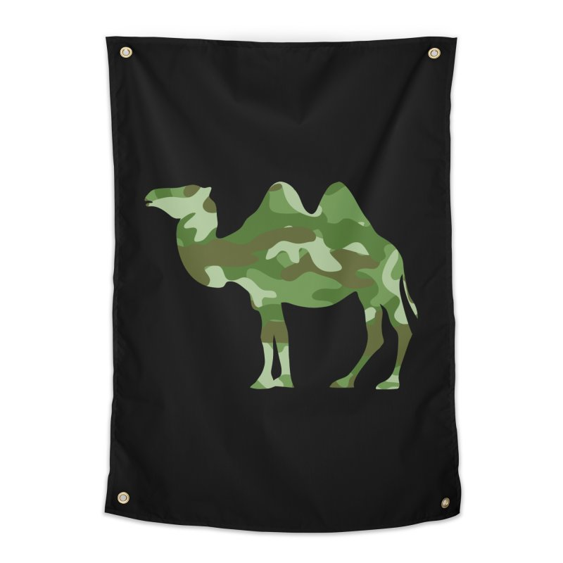Camelflauge Home Tapestry by Jonah Makes Art
