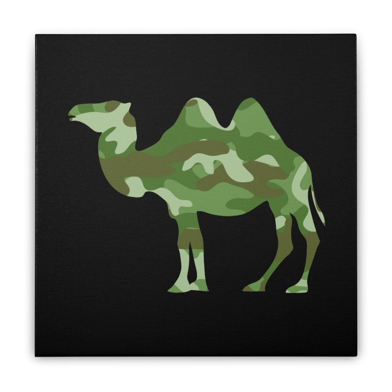 Camelflauge Home Stretched Canvas by Jonah Makes Art