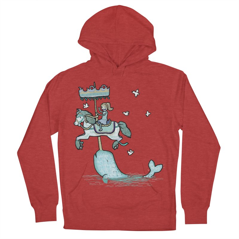 Narwhal Carousel  Women's Pullover Hoody by Jonah Makes Art