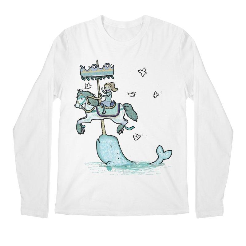 Narwhal Carousel Men's Longsleeve T-Shirt by Jonah Makes Art