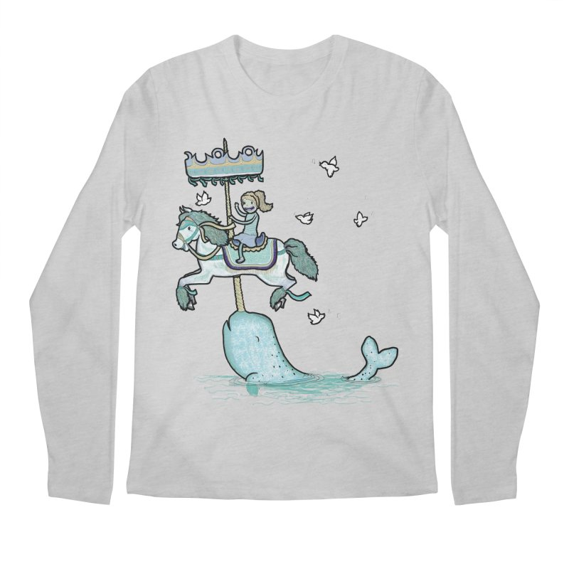 Narwhal Carousel  Men's Longsleeve T-Shirt by Jonah Makes Art
