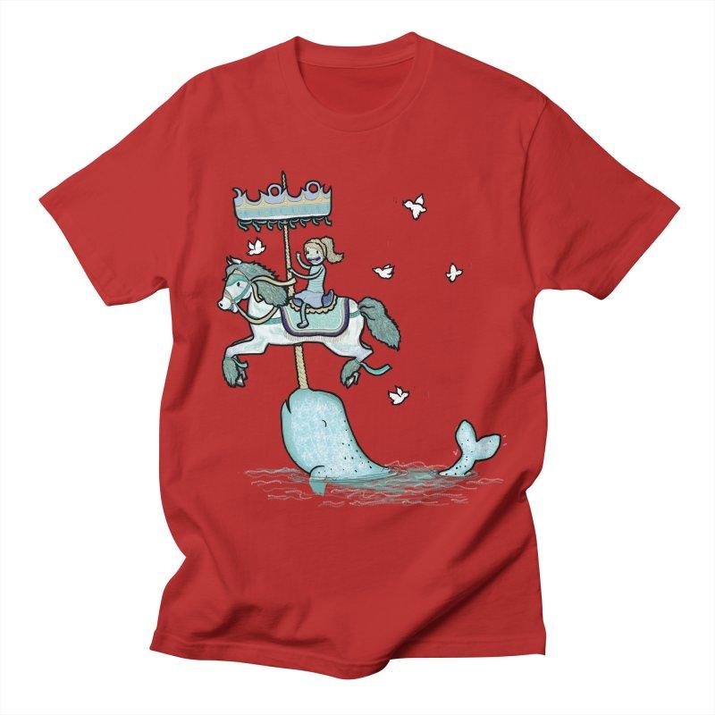 Narwhal Carousel  Men's T-shirt by Jonah Makes Art