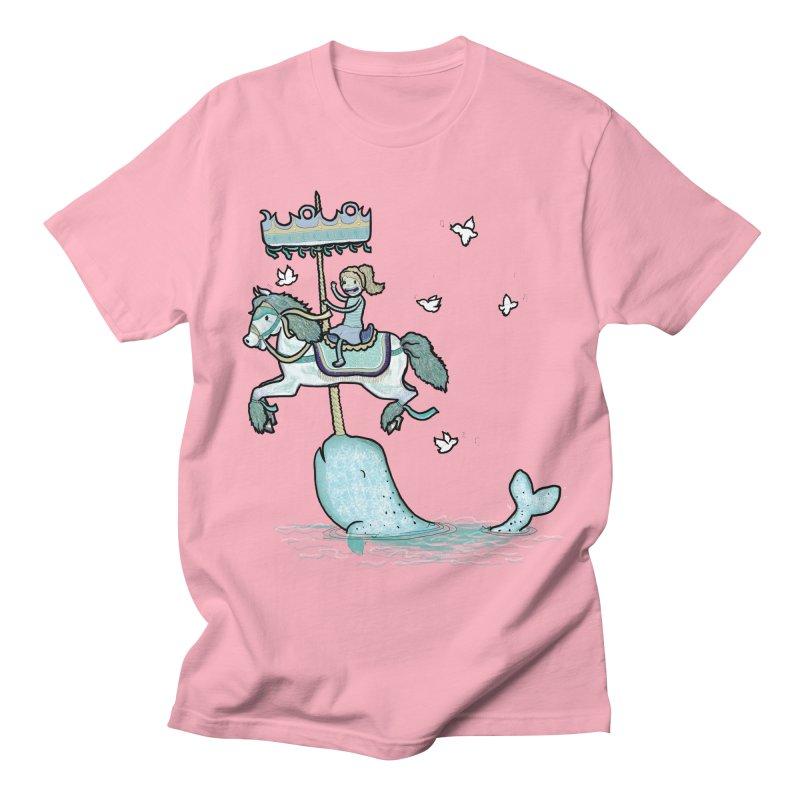 Narwhal Carousel  Women's Unisex T-Shirt by Jonah Makes Art