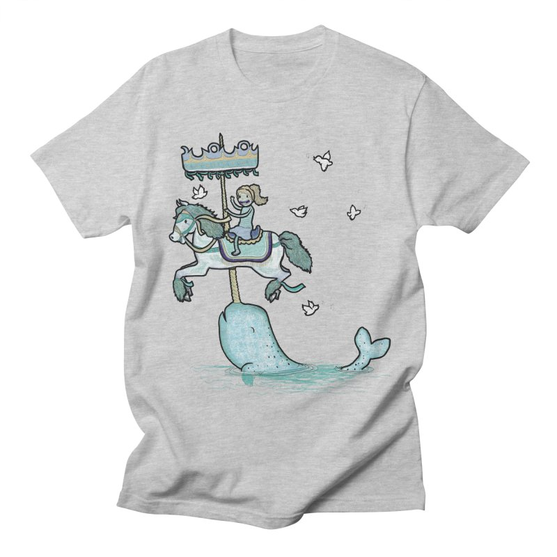 Narwhal Carousel  Men's T-Shirt by Jonah Makes Art