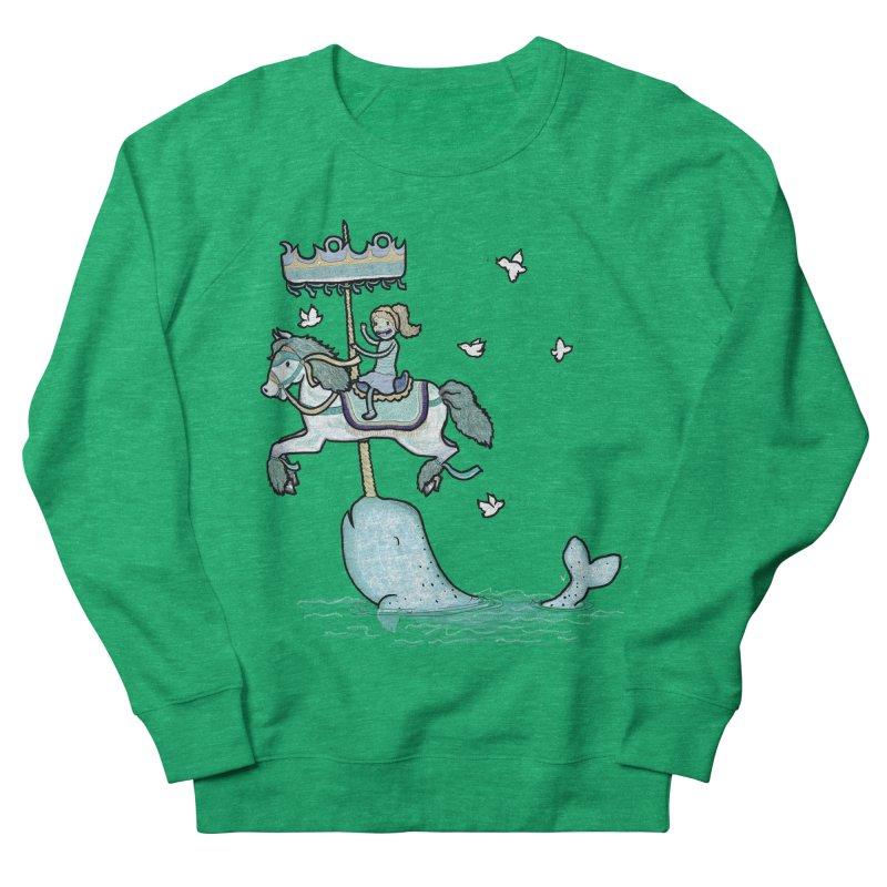 Narwhal Carousel Men's Sweatshirt by Jonah Makes Art