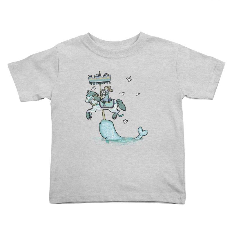 Narwhal Carousel  Kids Toddler T-Shirt by Jonah Makes Art