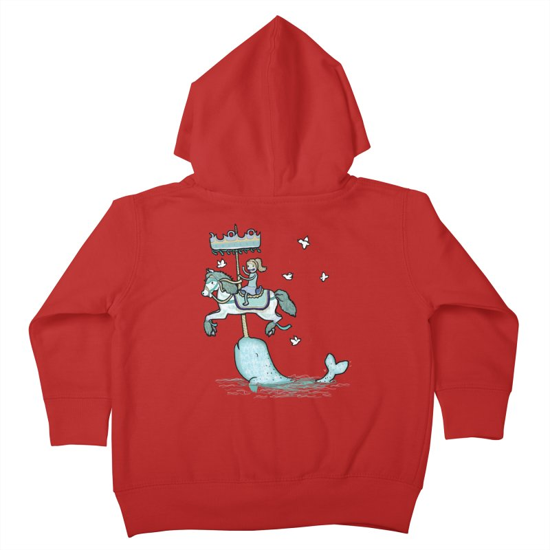 Narwhal Carousel  Kids Toddler Zip-Up Hoody by Jonah Makes Art