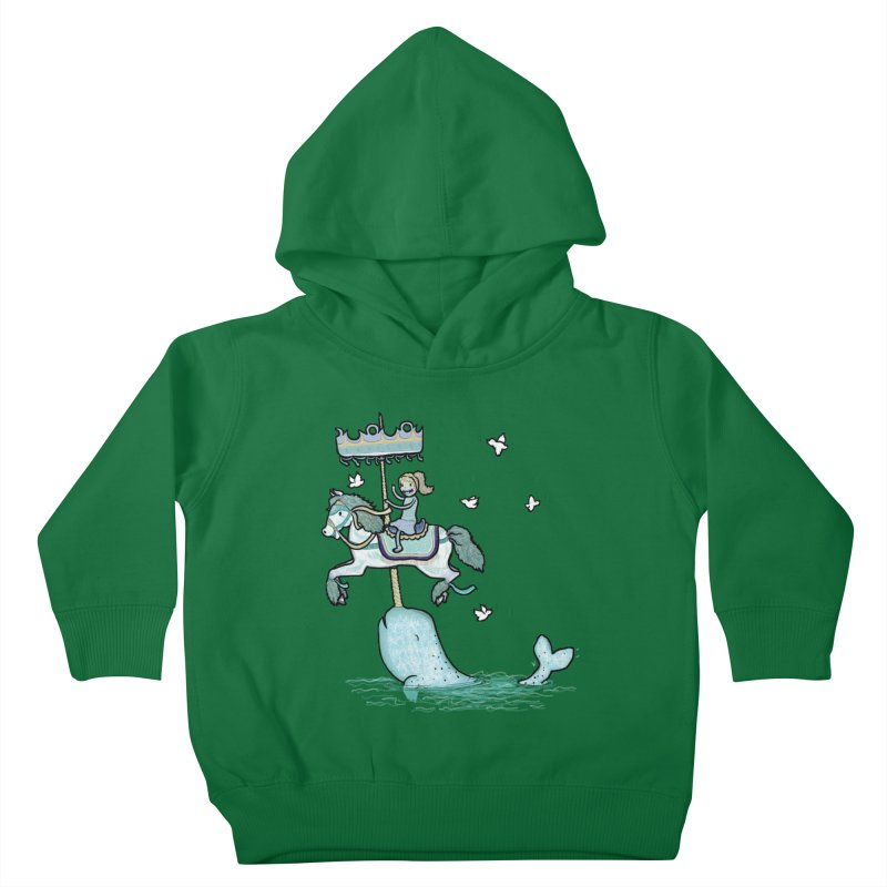 Narwhal Carousel  Kids Toddler Pullover Hoody by Jonah Makes Art