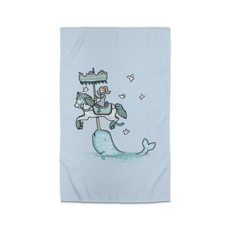 Narwhal Carousel Home Rug by Jonah Makes Art