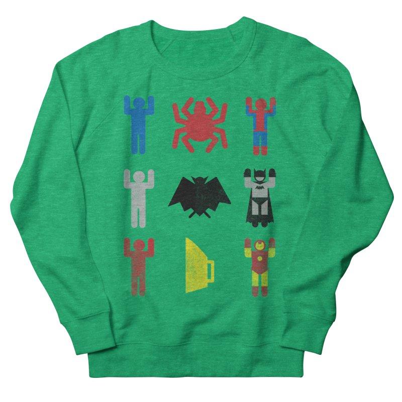 Superheroic Minimalism Men's Sweatshirt by Jonah Makes Art