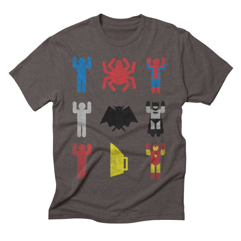 Superheroic Minimalism Men's Triblend T-Shirt by Jonah Makes Art