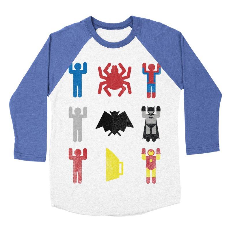 Superheroic Minimalism Men's Baseball Triblend T-Shirt by Jonah Makes Art
