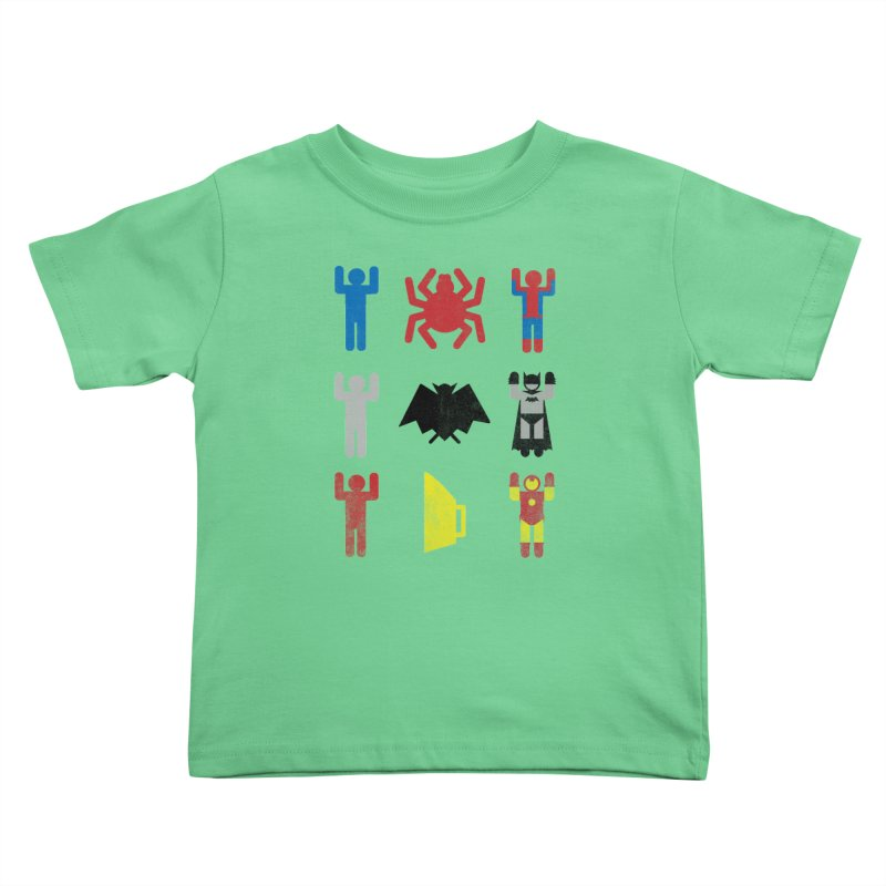 Superheroic Minimalism Kids Toddler T-Shirt by Jonah Makes Art