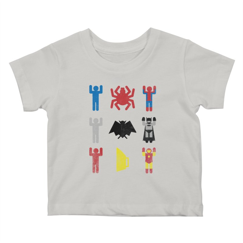 Superheroic Minimalism Kids Baby T-Shirt by Jonah Makes Art