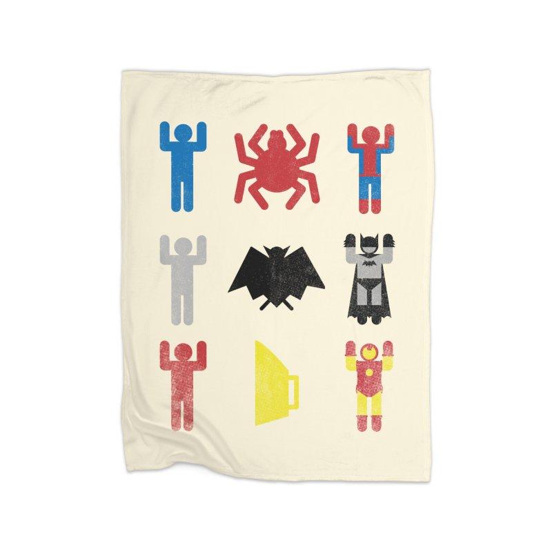 Superheroic Minimalism Home Blanket by Jonah Makes Art