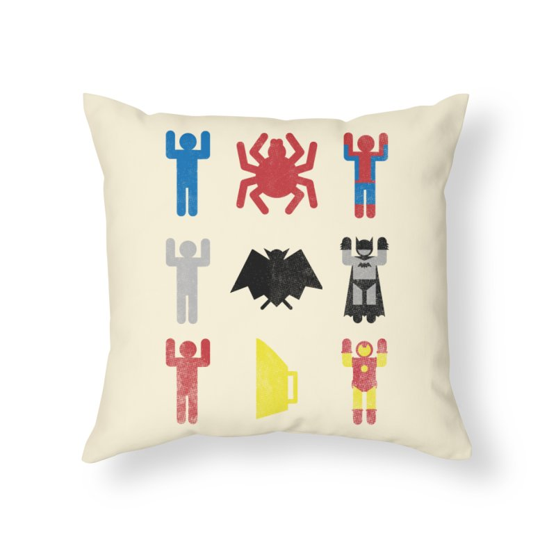Superheroic Minimalism Home Throw Pillow by Jonah Makes Art