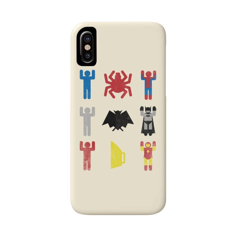 Superheroic Minimalism Accessories Phone Case by Jonah Makes Art