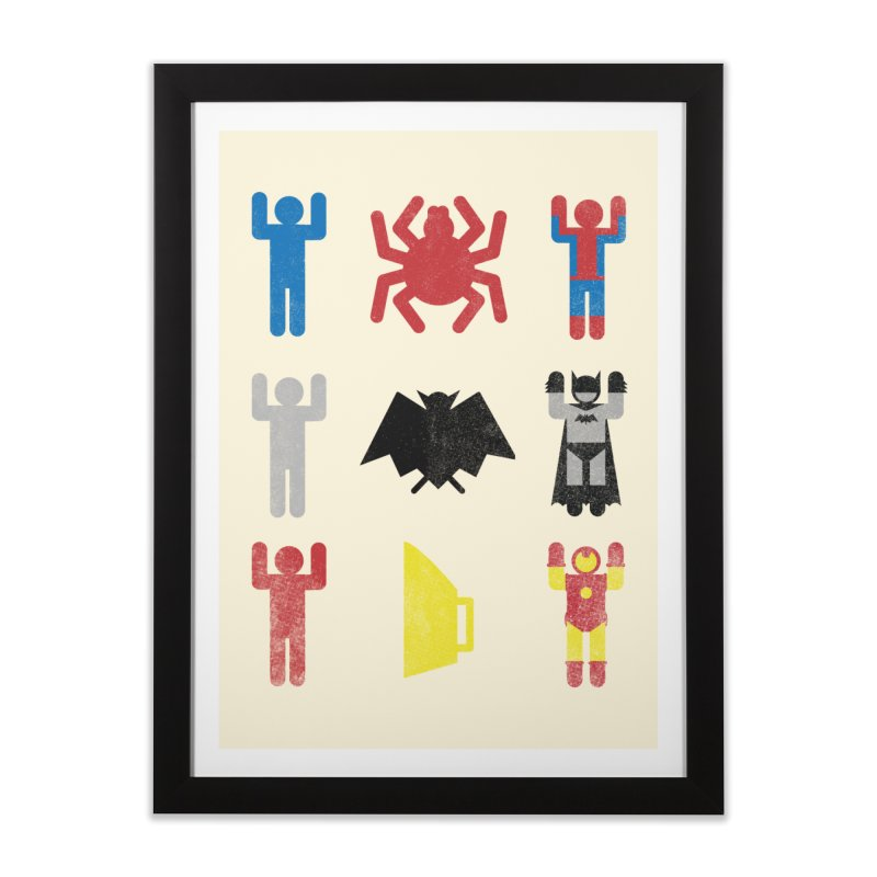 Superheroic Minimalism Home Framed Fine Art Print by Jonah Makes Art