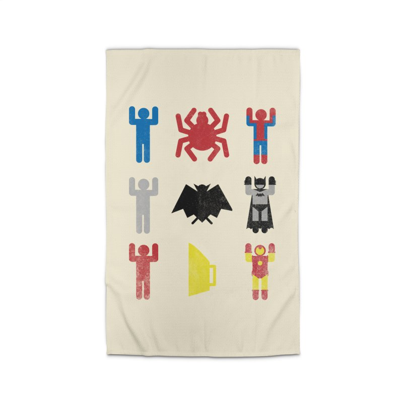 Superheroic Minimalism Home Rug by Jonah Makes Art