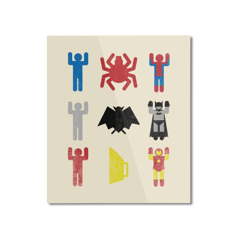 Superheroic Minimalism Home Mounted Aluminum Print by Jonah Makes Art