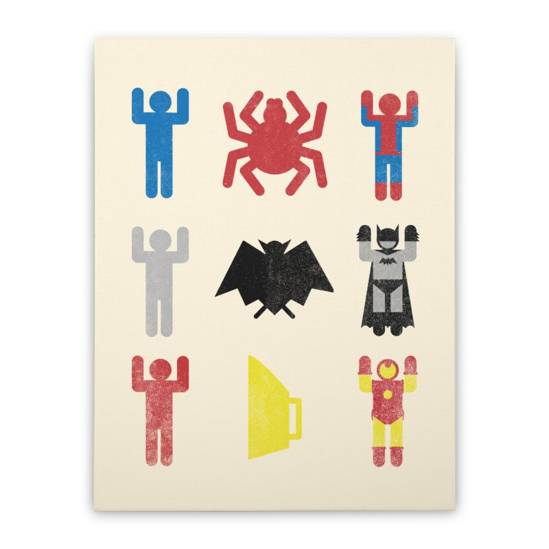 Superheroic Minimalism Home Stretched Canvas by Jonah Makes Art