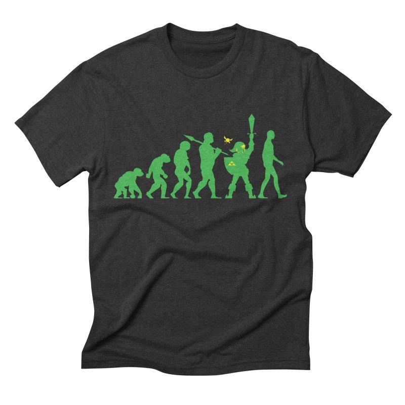Missing Link Men's Triblend T-Shirt by Jonah Makes Art