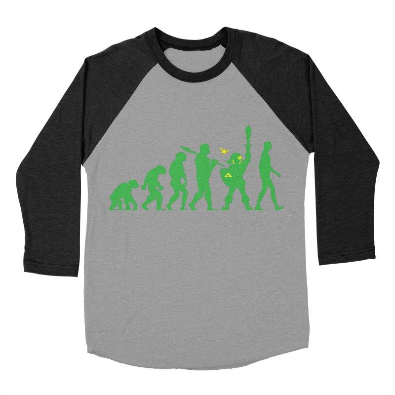 Missing Link Women's Baseball Triblend T-Shirt by Jonah Makes Art