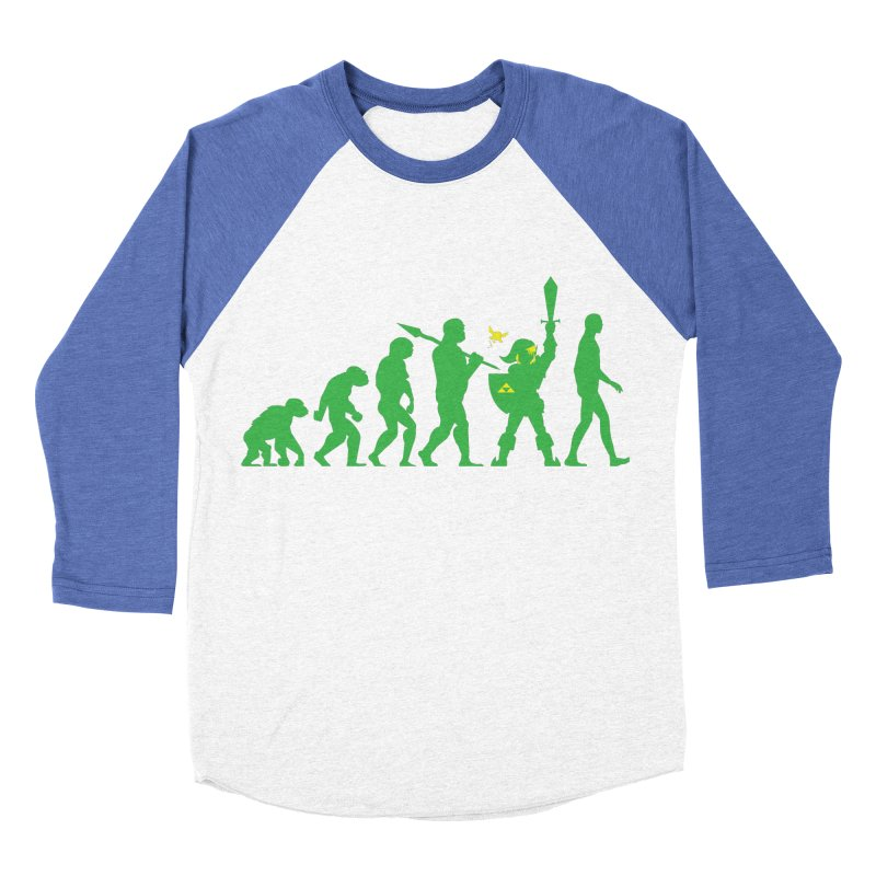 Missing Link Men's Baseball Triblend T-Shirt by Jonah Makes Art