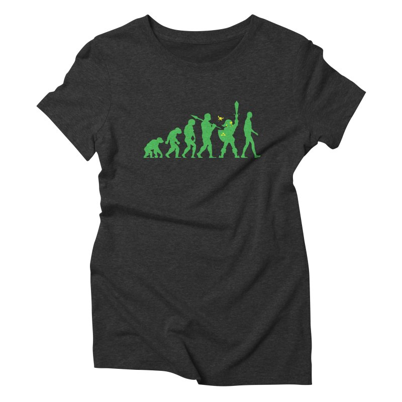 Missing Link Women's Triblend T-Shirt by Jonah Makes Art