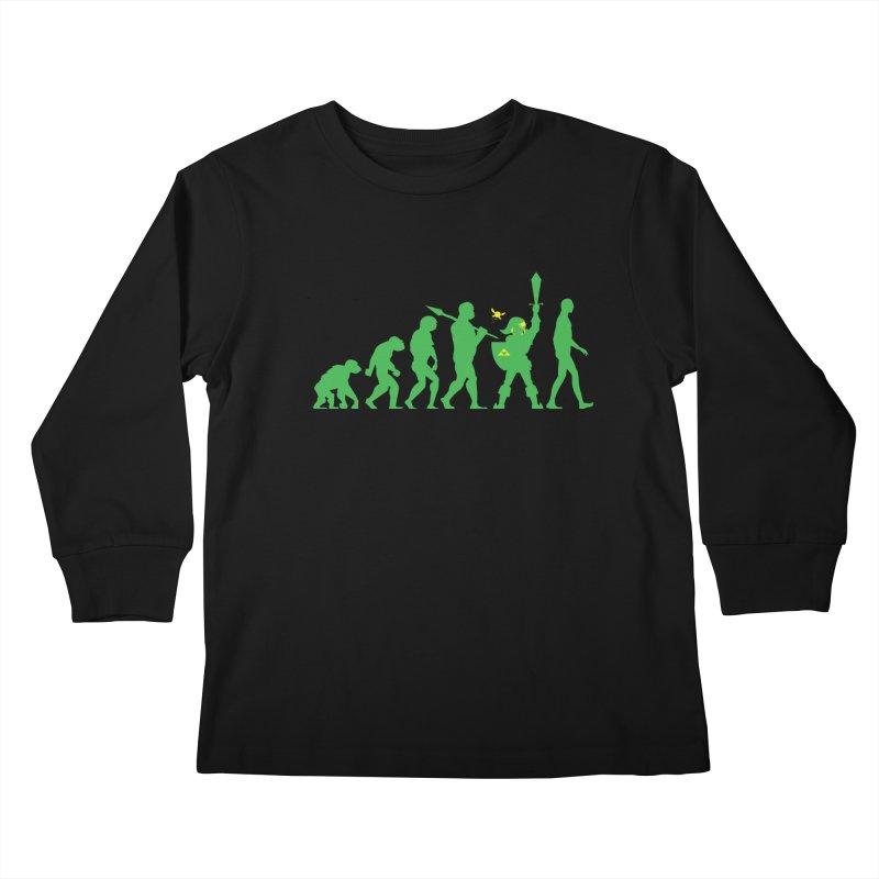 Missing Link Kids Longsleeve T-Shirt by Jonah Makes Art