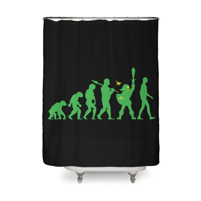 Missing Link Home Shower Curtain by Jonah Makes Art