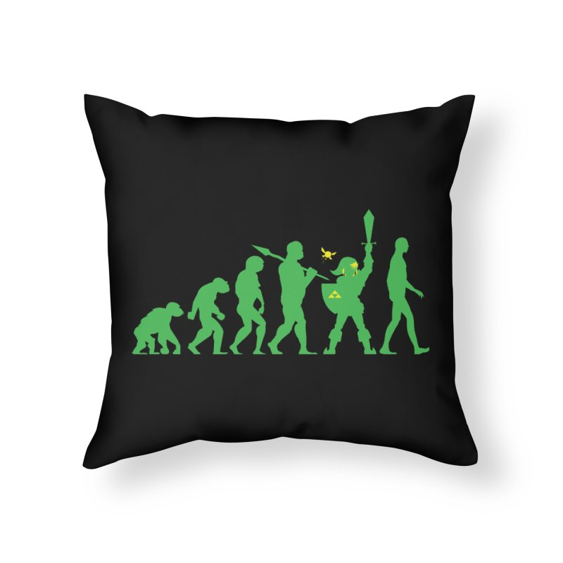 Missing Link Home Throw Pillow by Jonah Makes Art